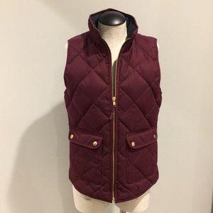 J. Crew NWT burgundy flannel excursion vest